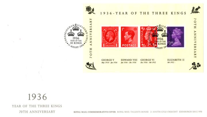 Year of the Three Kings: Miniature Sheet, Profiles in Relief