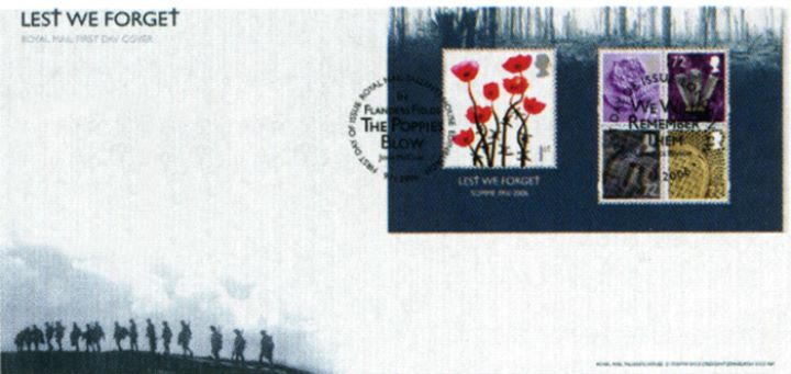 Lest We Forget 2006: Miniature Sheet, Silhouette of Soldiers