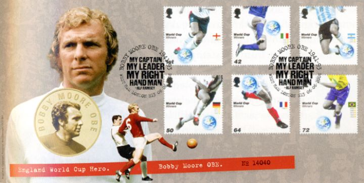 World Cup Winners, Bobby Moore Medal Cover