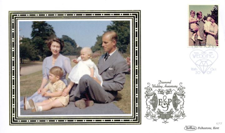 Diamond Wedding: Miniature Sheet, With Prince Charles and Princess Anne