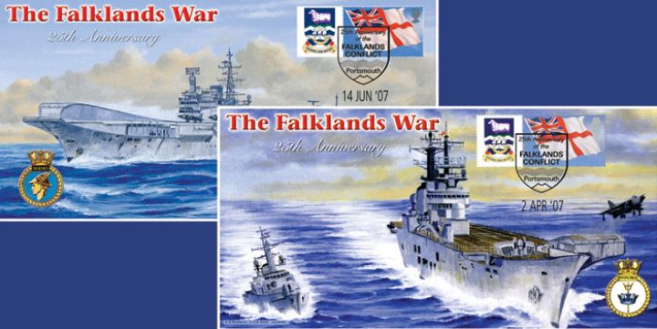The Falklands War, HMS Hermes & HMS Invincible