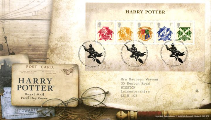 Harry Potter: Miniature Sheet, Postcard and Specs