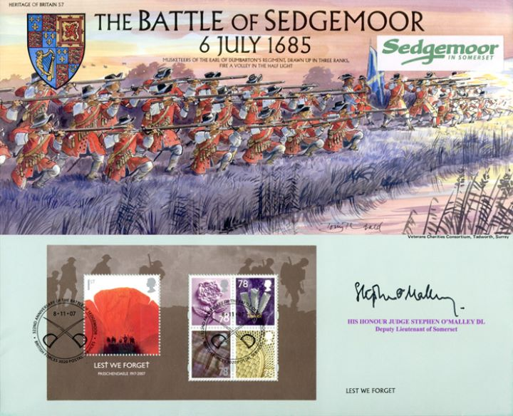Lest We Forget 2007: Miniature Sheet, Battle of Sedgemoor