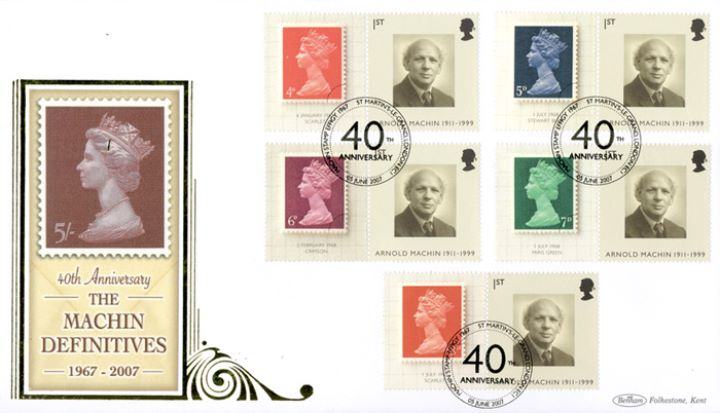 Machin 40 Years: Generic Sheet, 5s Definitive