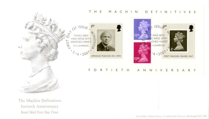 Machin 40 Years: Miniature Sheet, The Machin Head
