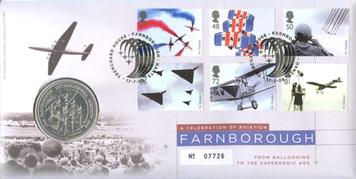Air Displays, Farnborough Medal Cover
