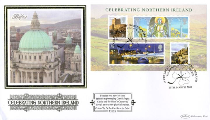 Celebrating Northern Ireland: Miniature Sheet, Belfast Skyline