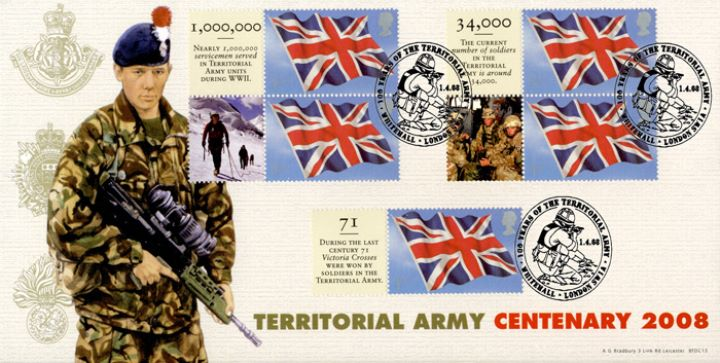 Territorial Army [Commemorative Sheet], Centenary of the TA