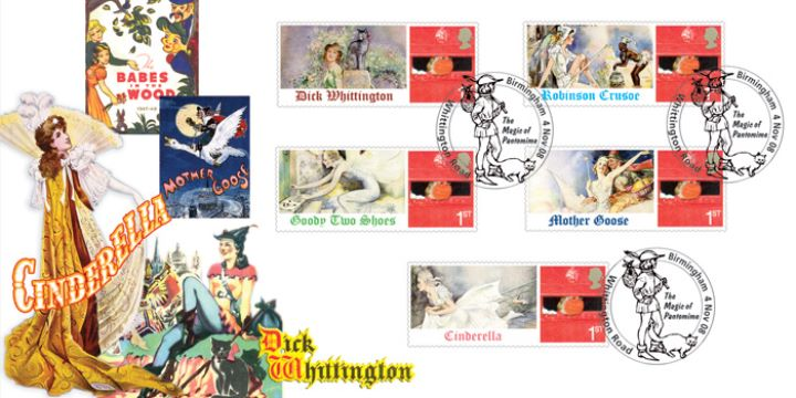 Pantomime Characters, Stamp Sheet Labels