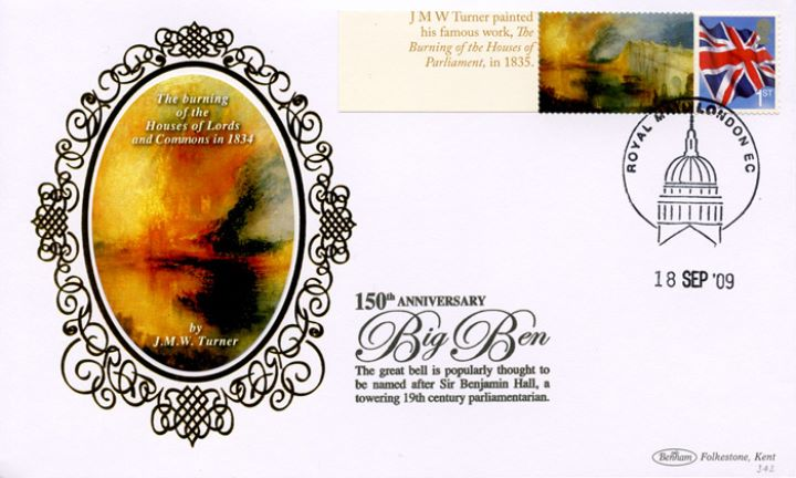 Big Ben [Commemorative Sheet], The Burning of the Houses of Parliament
