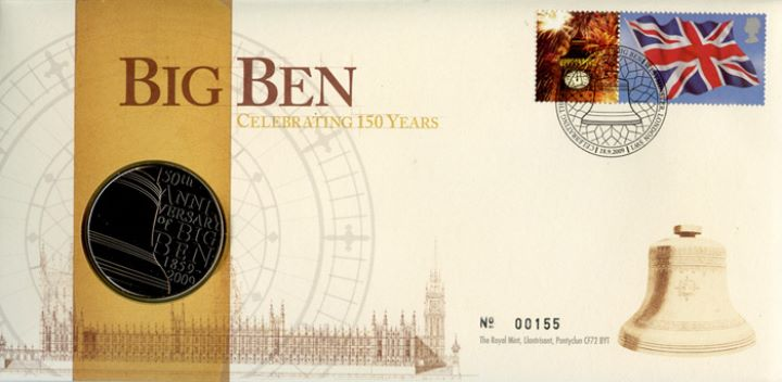 Big Ben: Generic Sheet for Cover, Medal Cover