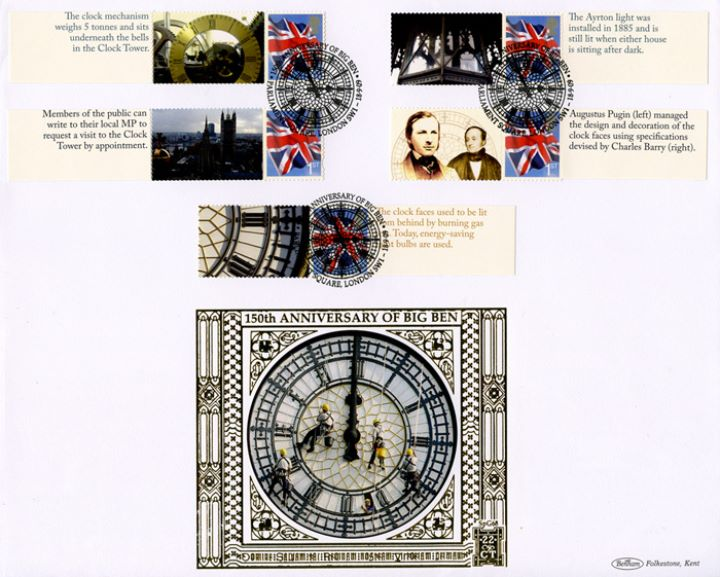 Big Ben [Commemorative Sheet], Cleaning the clock face