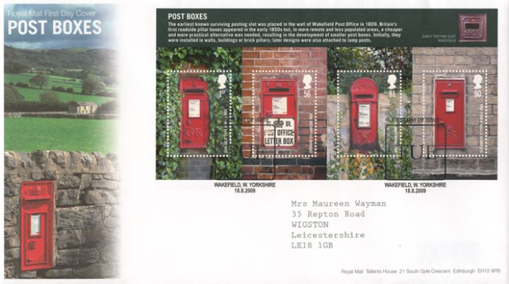 Post Boxes: Miniature Sheet, Countryside Wall Box