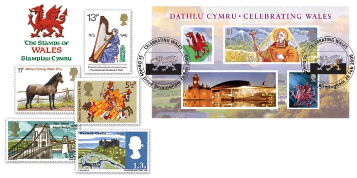 Celebrating Wales: Miniature Sheet, The Stamps of Wales