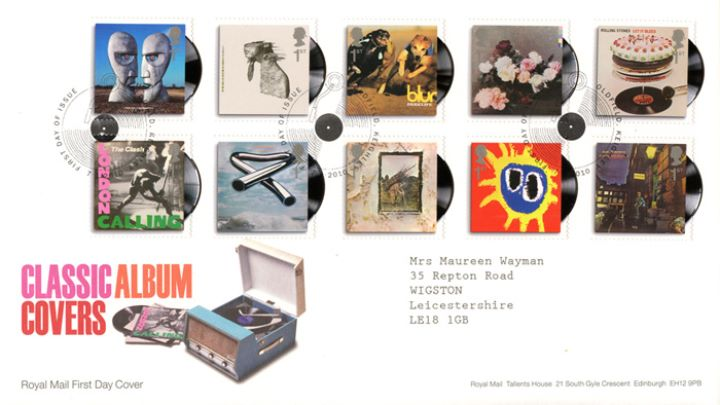 Classic Album Covers, Record Player and Albums