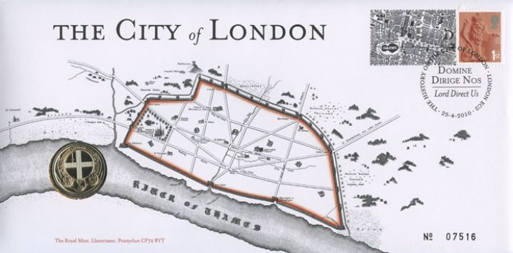 London Map: Generic Sheet for Cover, Map of Roman London