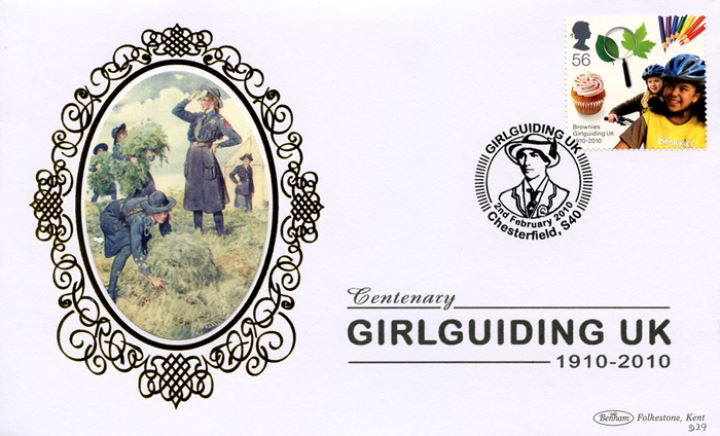 Girl Guiding: Miniature Sheet, Helping on the Farm