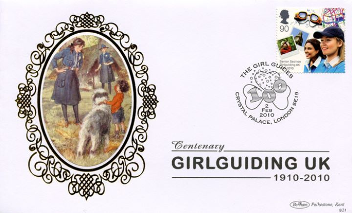 Girl Guiding: Miniature Sheet, With little boy and dog