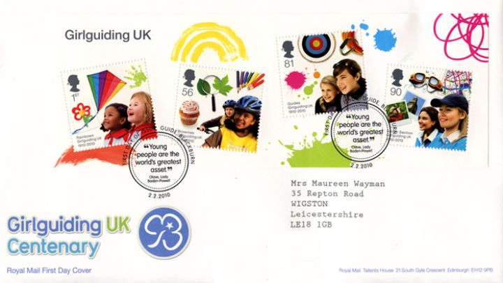 Girl Guiding: Miniature Sheet, UK Centenary