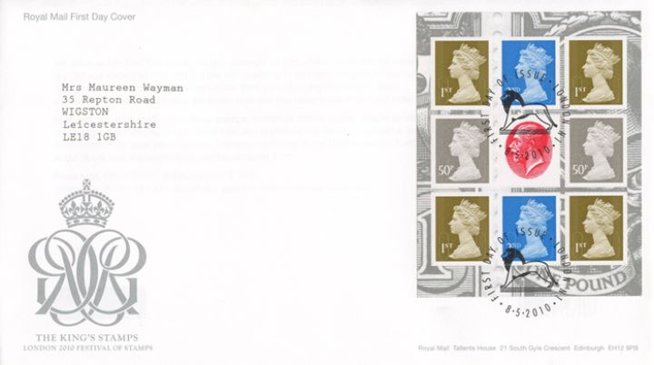 PSB: Festival of Stamps KGV - Pane 4, The King's Stamps