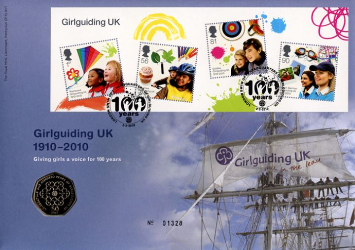 Girl Guiding: Miniature Sheet, Guides on rigging
