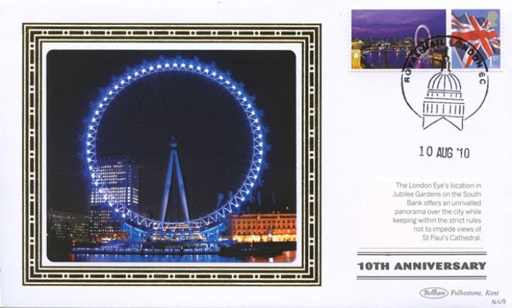 London Eye [Commemorative Sheet], London Eye at night