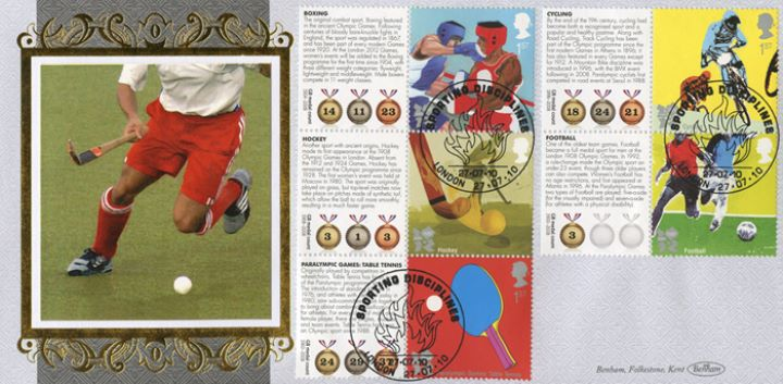 Olympic Games [Commemorative Sheet], Hockey