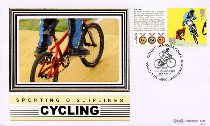 Olympic Games [Commemorative Sheet], Cycling