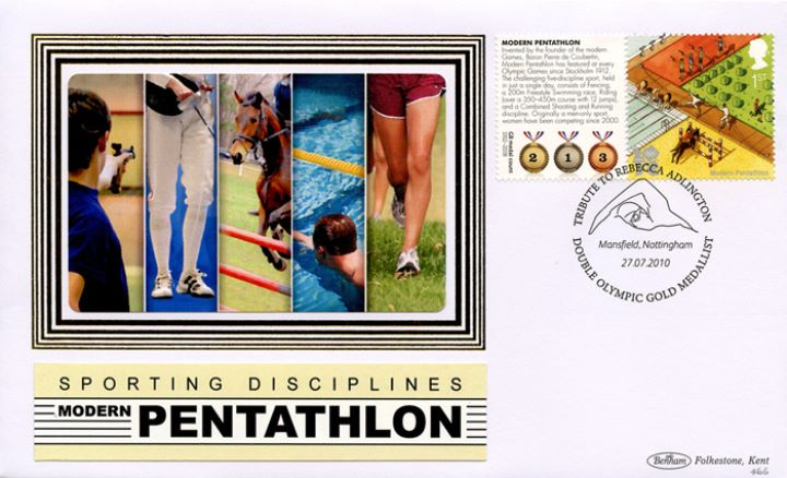 Olympic Games [Commemorative Sheet], Pentathlon