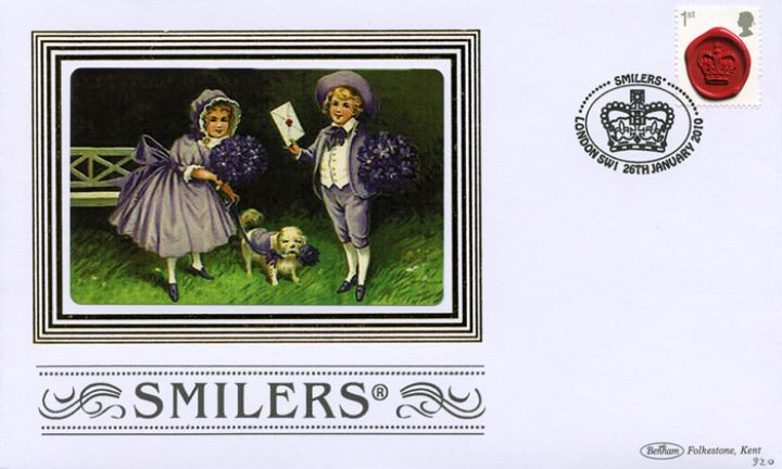 Smilers: Miniature Sheet, Boy and Girl with Dog