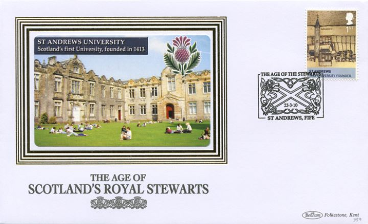 The Stewarts: Miniature Sheet, St Andrew's University