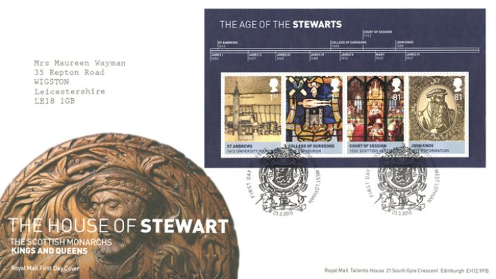 The Stewarts: Miniature Sheet, James V Ceiling Medallion