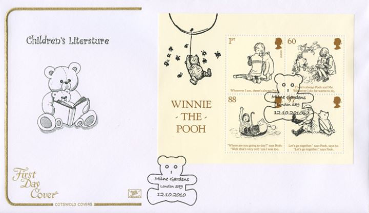 Winnie-the-Pooh: Miniature Sheet, Teddy reading book