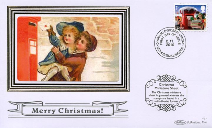 Christmas 2010: Miniature Sheet, Children posting letter