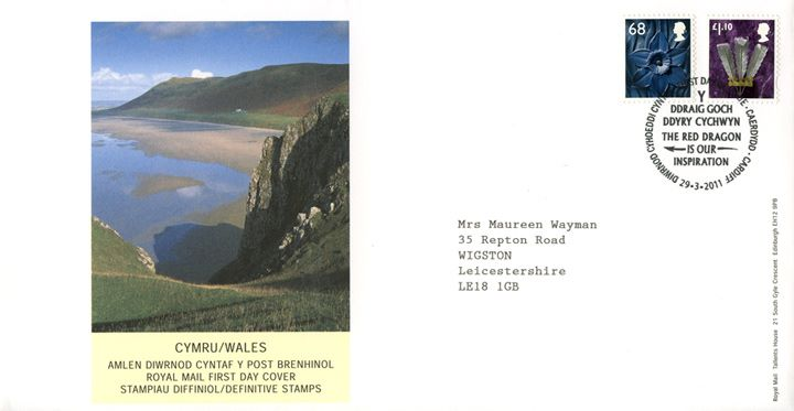Wales 68p, £1.10, Welsh Bay