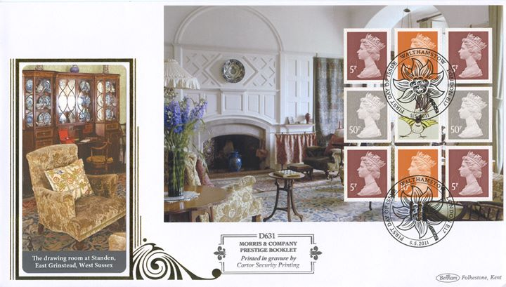 PSB: Morris & Co - Pane 1, Drawing Room at Standen