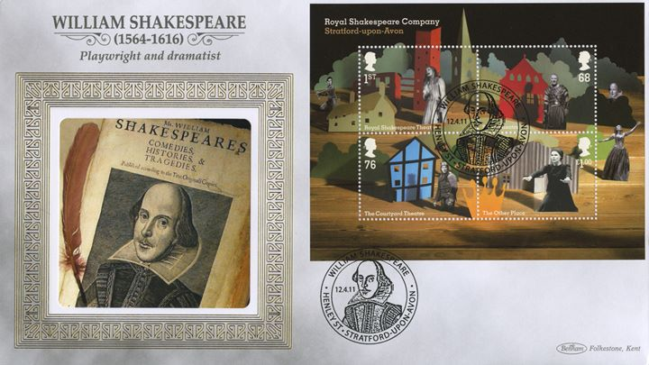 Royal Shakespeare Company: Miniature Sheet, William Shakespeare