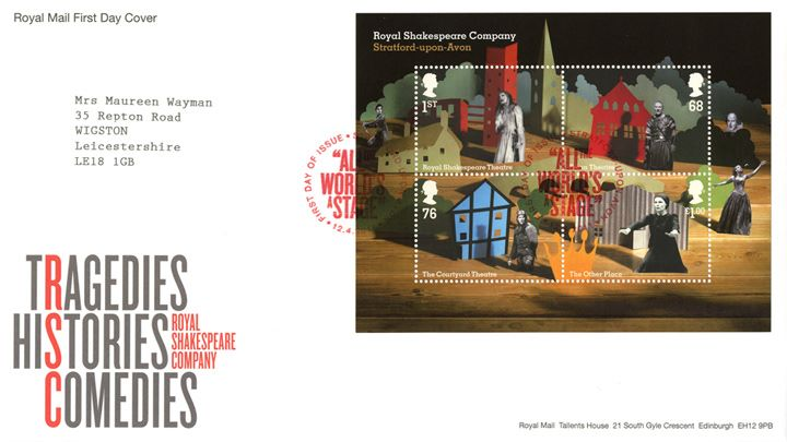 Royal Shakespeare Company: Miniature Sheet, Tragedies, Histories, Comedies
