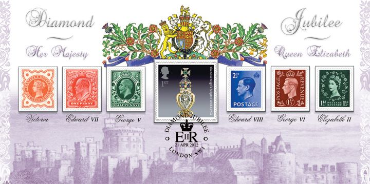 The Queen's Birthday, Genuine Stamps from Six Reigns