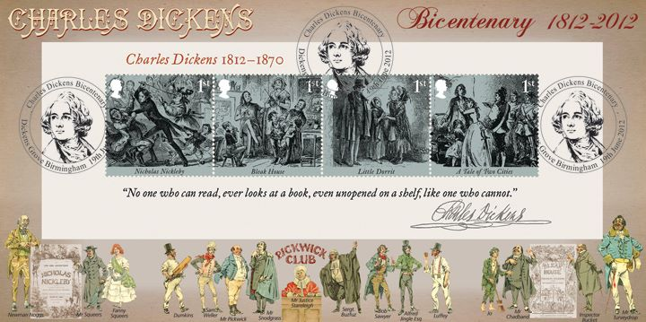 Charles Dickens: Miniature Sheet, Dickens' Characters