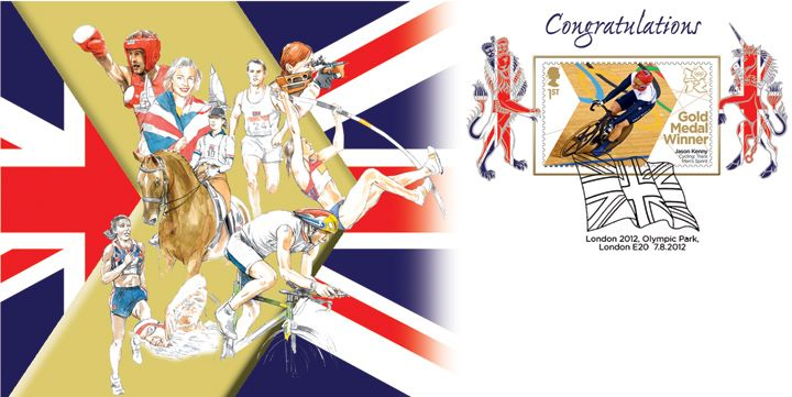 Cycling - Track - Men's Sprint: Olympic Gold Medal 18: Miniature Sheet, Jason Kenny