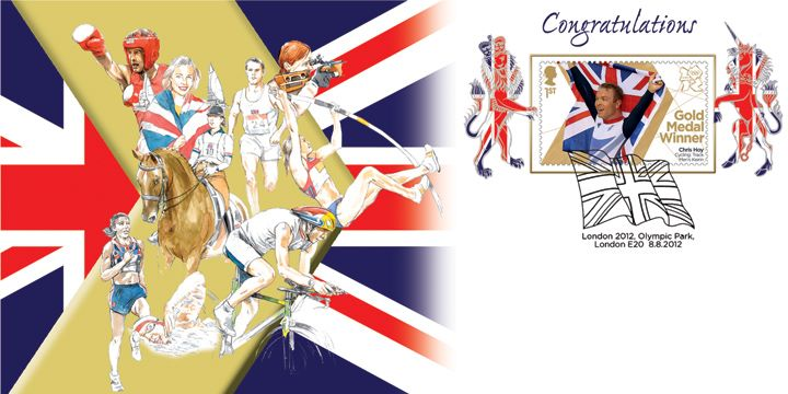 Cycling - Track: Men's Keirin: Olympic Gold Medal 22: Miniature Sheet, Chris Hoy