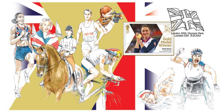 Cycling - Women's Individual C5 Pursuit: Paralympic Gold Medal 1: Miniature Sheet, Athletes