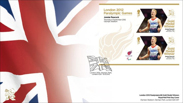 Athletics - Track- Men's100m T44: Paralympic Gold Medal 31: Miniature Sheet, Union Flag