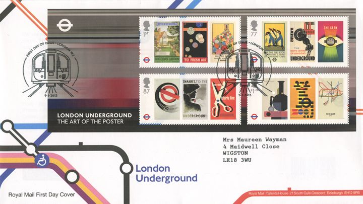 London Underground: Miniature Sheet, Underground Map