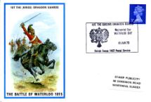 18.06.1973 1st The (Kings) Dragoon Guards The Battle of Waterloo 1815 Stamp Publicity, British Military Uniforms No.34
