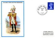 01.08.1973 King's Own Scottish Borderers Minden Day Stamp Publicity, British Military Uniforms No.39