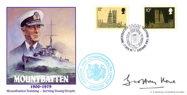 Mountbatten, With Parliament Stamps