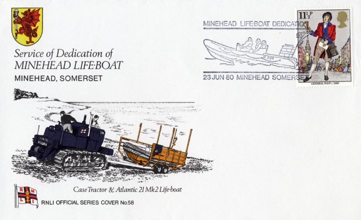 Case Tractor & Atlantic 21 mk 2 Lifeboat, Minehead Lifeboat