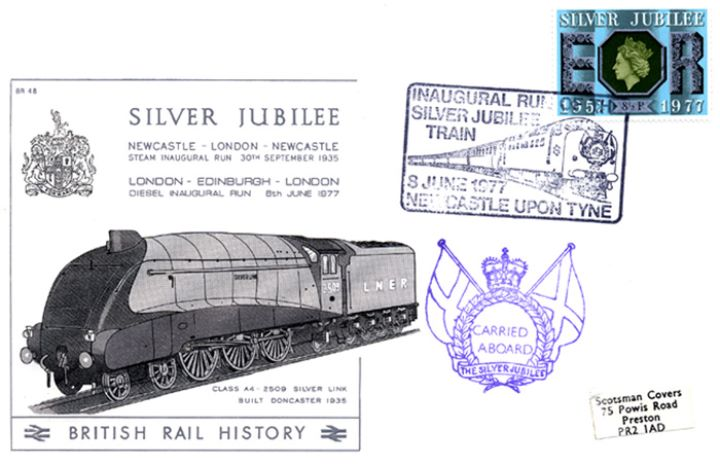 Inaugural Run of Silver Jubilee, Class A4 Silver Link